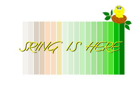spring transition background  Ilustração