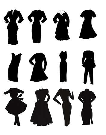 lbd: clothing in silhouettes