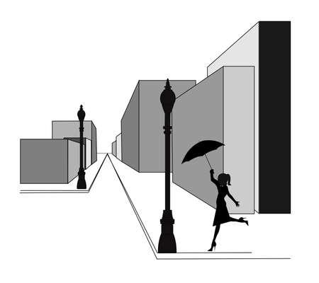 lamp posts: dancing in the rain