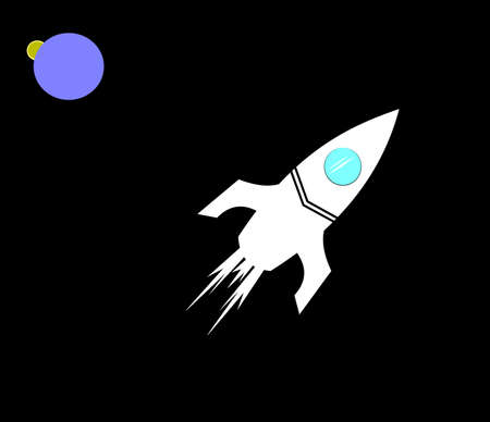 manned: rocket in outer space