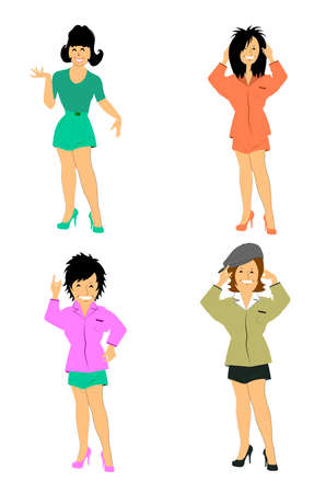 beach wear: ladies in shorts and shirts