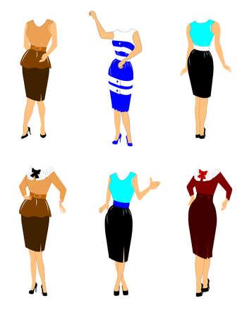 Frauen in der Retro-Kleidung