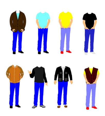 ふだん着: カジュアルな服装の男性
