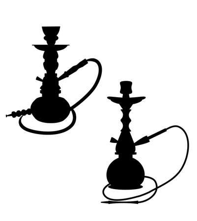 hooka: hookah silhouettes  Illustration