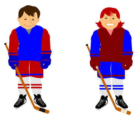 padding: hockey kids on skates
