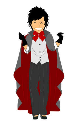 lady in costume ready fro Halloween party  Vector