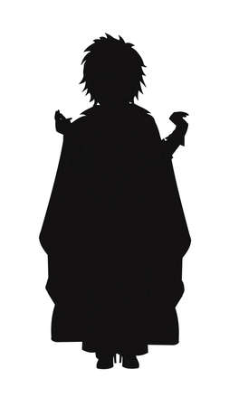 lady dracula in silhouette Vector