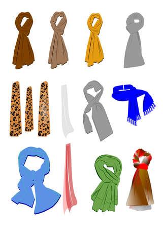 bufandas: colecci�n bufandas para hombres y mujeres Foto de archivo
