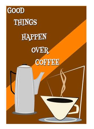 happenings: good things happen over coffee