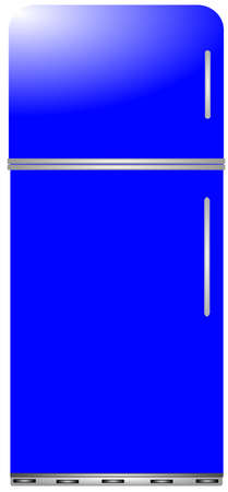 fridge in blue modern day  Ilustracja