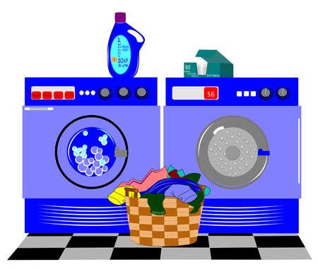 laundry background Çizim