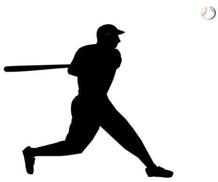 hitter: ball player silhouette