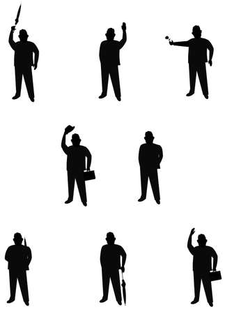 over weight: male silhouettes