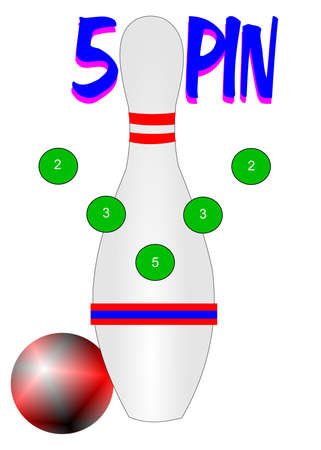 concept: 5 pin bowling concept  Illustration