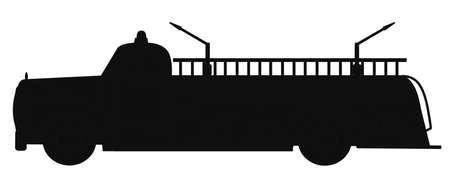 firetruck: retro firetruck silhouette