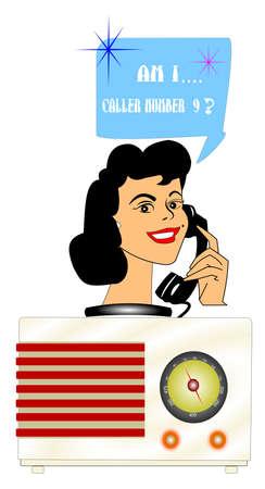 retro radio contest caller