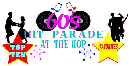 sixties hit parade background  Vector