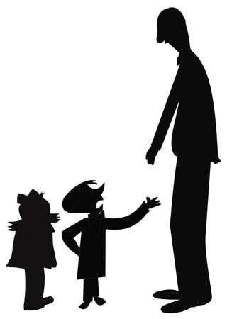 familie praten Stock Illustratie