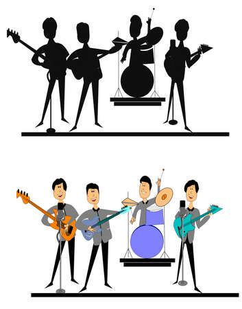 sixties British invasion  Illustration