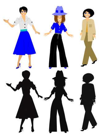 flair: fashionable women