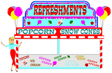 carnival refreshment stand  Vector