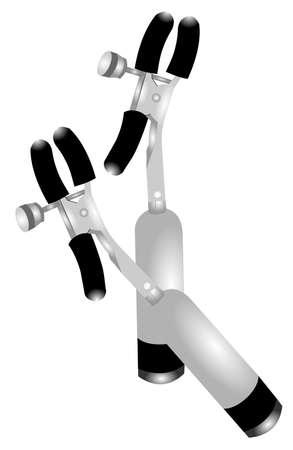 nipple clamps  Ilustração