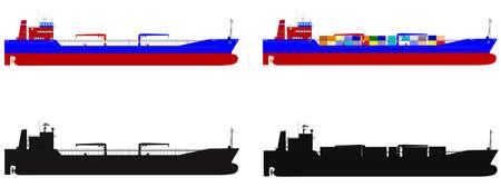 container ship: ocean transport ship s Illustration