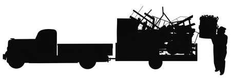 dump run in silhouette photo