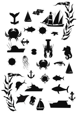 nautical silhouettes photo