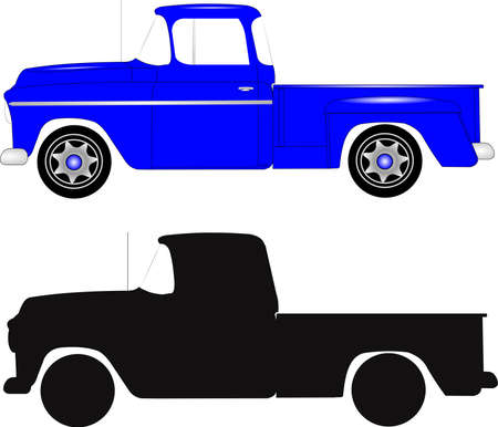 truck: retro step side truck Stock Photo