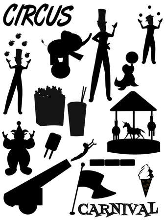 circus and carnival silhouettes  photo