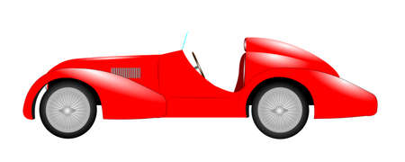 seater: red sports car over white