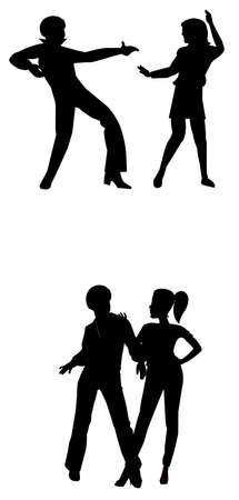 disco era: 80s disco dancers
