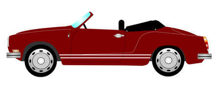 top down car: 1957 vintage sports car