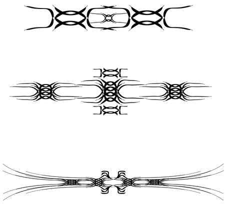 흰색 위에 문신 디자인