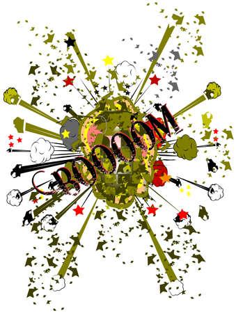 grenade exploding Imagens