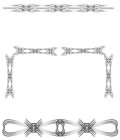 허리 부족 문신 디자인