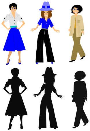 women of style Vectores