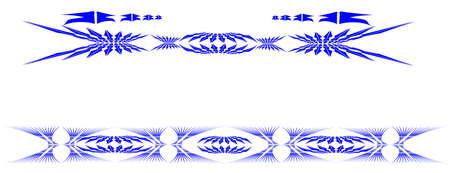 어깨 파란색 부족 잉크 문신 일러스트