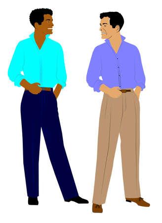 two men talking: two men talking Stock Photo