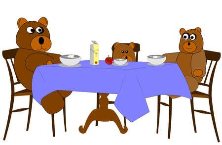 가족 점심을 먹다
