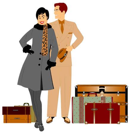 double breasted: pareja se va de vacaciones