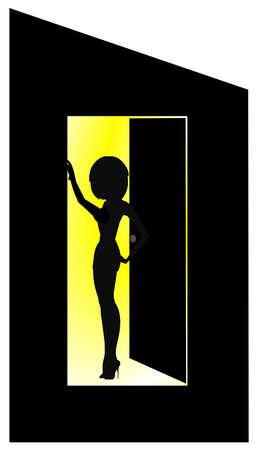 doorway: lady in the doorway