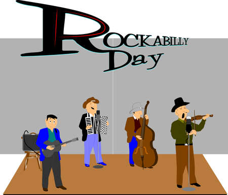 rockabilly day concept photo