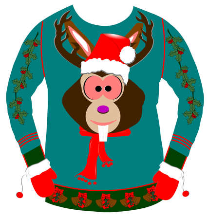 ugly christmas sweater Stock Photo