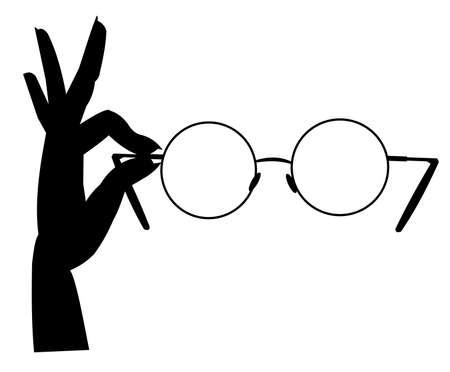 hand holding glasses photo