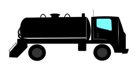 septic: septic tank truck Stock Photo