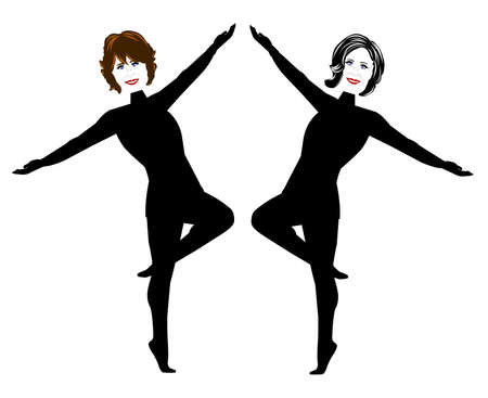 lady dancers in black