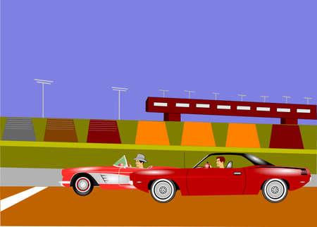 racing track: auto race background Stock Photo