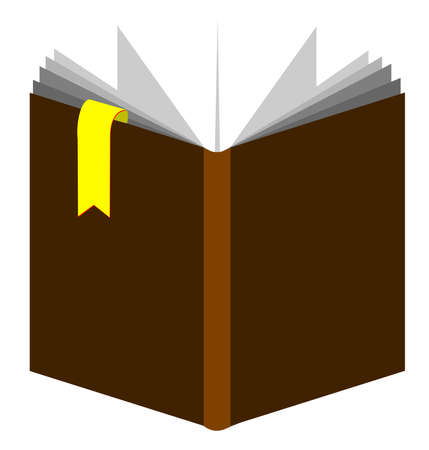 book with yellow bookmark